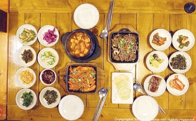 韓國 ▌忠清北道美食 健康的山蔬野菜 청풍예촌 近清風湖單軌列車&文化園區