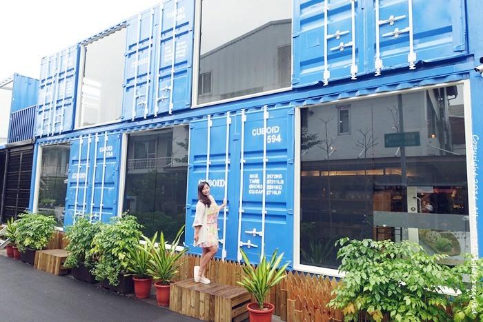 台中景點 ▌IG打卡熱門景點 : Cuboid台中人氣貨櫃屋 好拍的藍色貨櫃屋