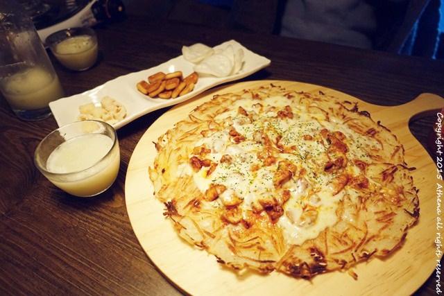 韓國食記 ▌無意發現的술집 : 전Yaa!제 馬鈴薯煎餅跟水果馬格利酒 전야제 :P