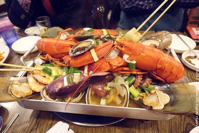 韓國釜山 ▌西面站 : 皇帝潛水艇 황제잠수함 大龍蝦加各種海鮮 讓人超滿足!