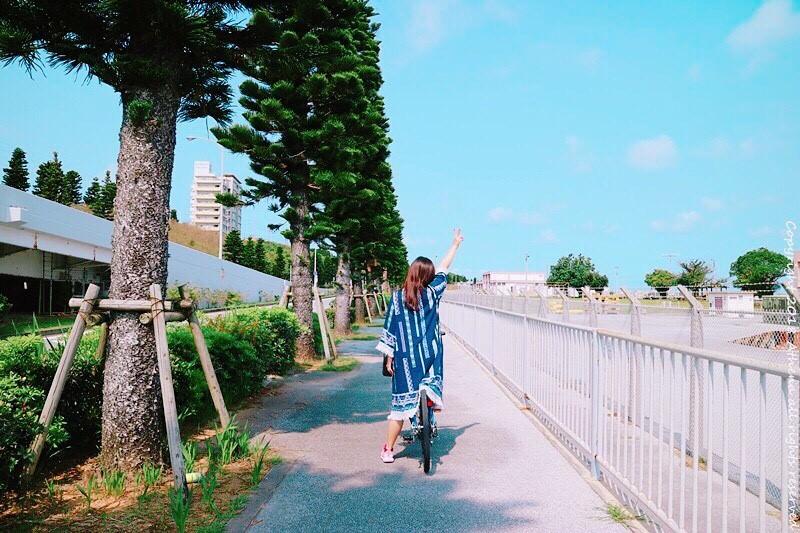 日本旅行 ▌沖繩不開車自由行:腳踏車旅行南沖繩 海岸線美翻 覺得好熱血 但屁股超痛