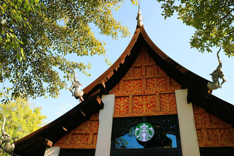 泰國旅行 ▌清邁必去景點,全泰國最美星巴克、蘭納王朝式建築設計│Kad Farang購物商場周邊美食介紹《麻依專欄》