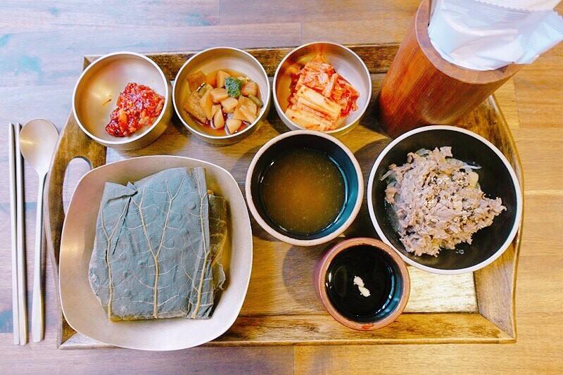 韓國大邱 ▌Korean dessert Cafe Mu-A 카페무아咖啡無我 韓式個人套餐 連花飯연잎밥