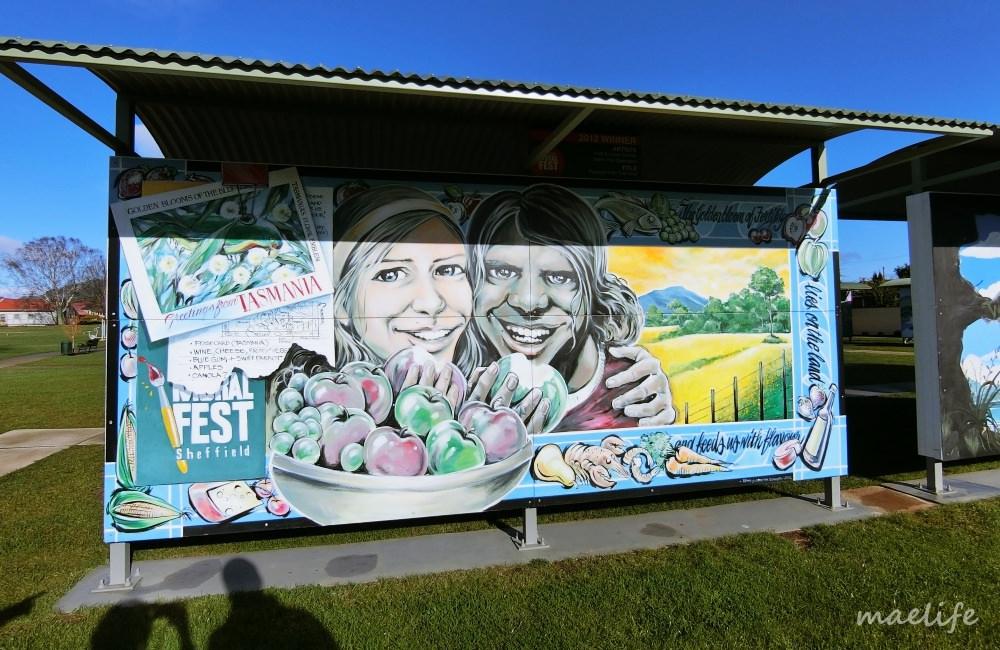 澳洲 ▌塔斯馬尼亞 謝菲爾德美麗壁畫小鎮 & Blacksmith Gallery Cafe《MAE專欄》